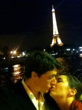 Two lovers in Paris