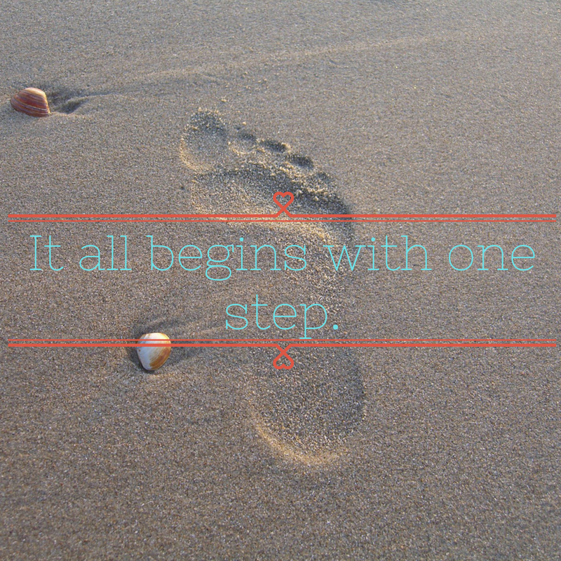 It all begins with one step